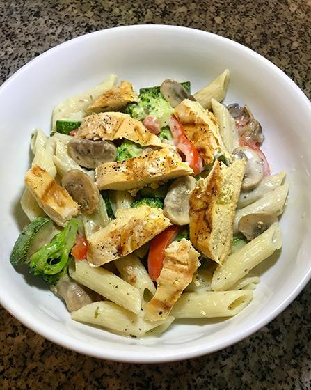 Grilled Chicken Pasta Primavera