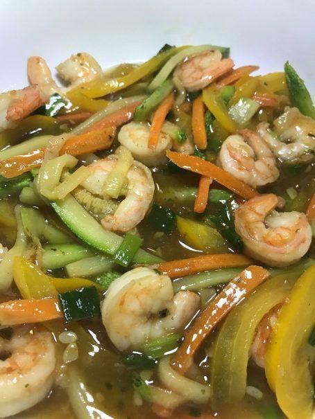 No Carbs Shrimp Stir Fry