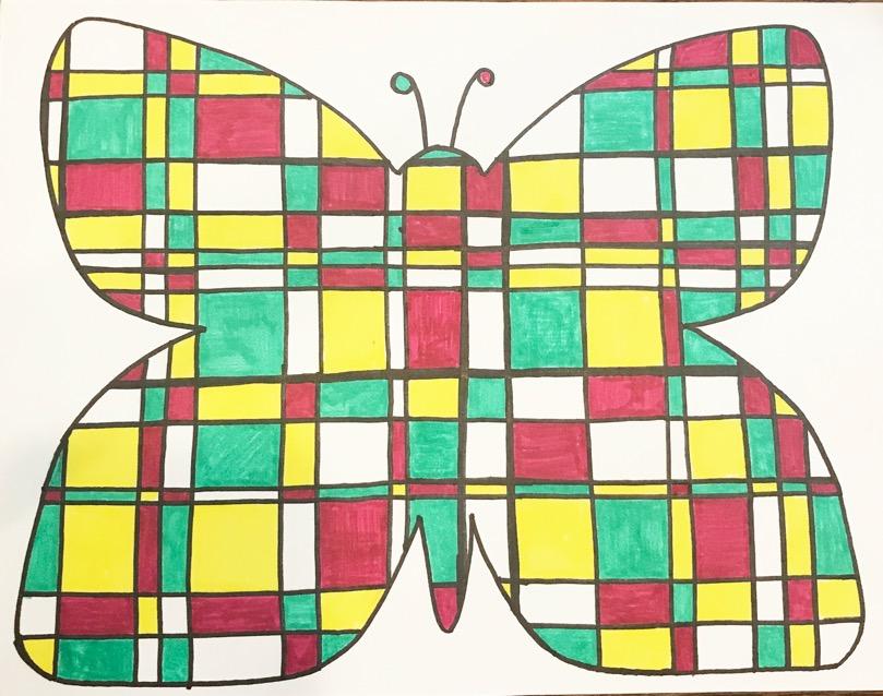 Piet Mondrian inspired art project