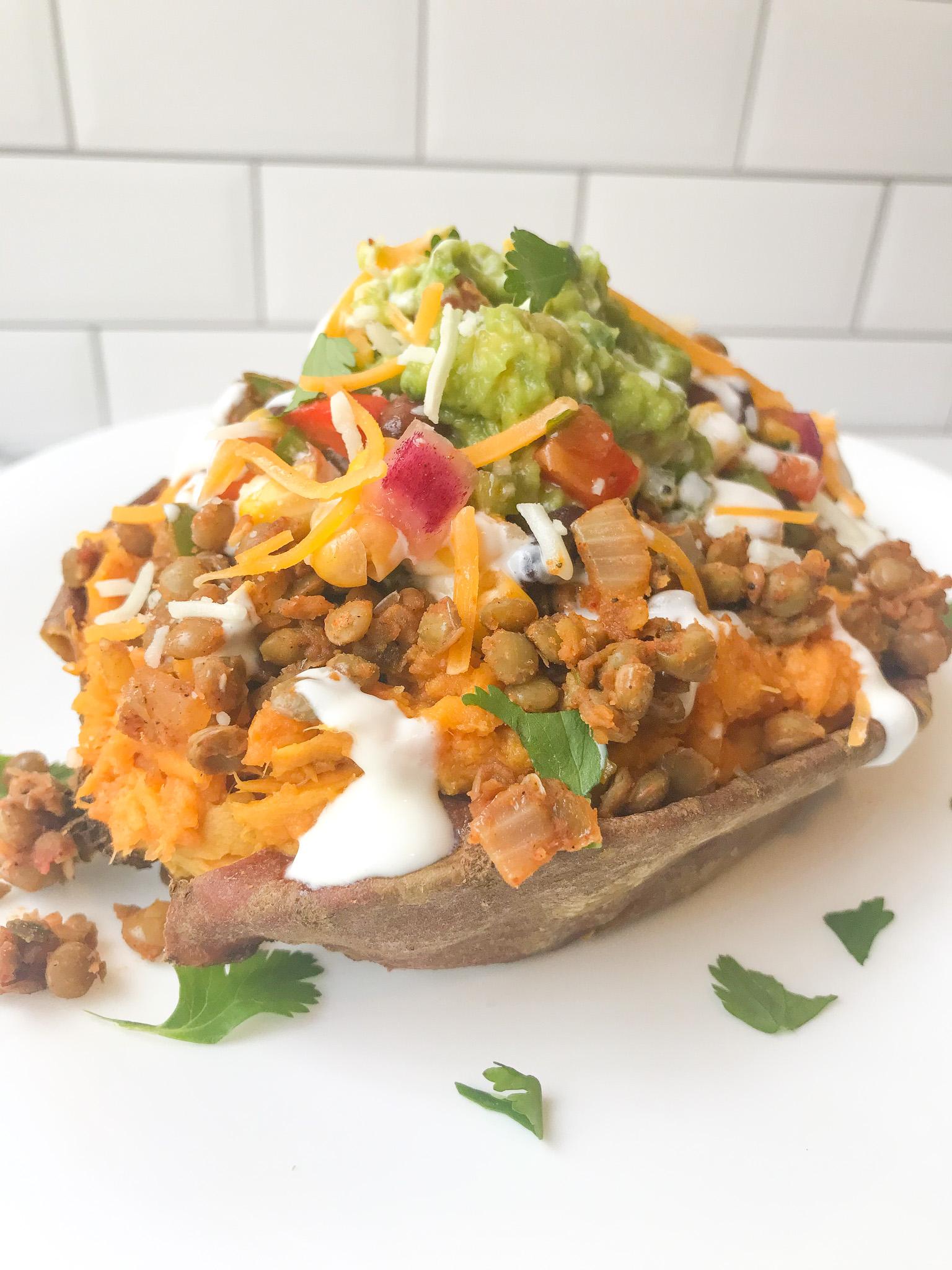 Vegetarian Taco Sweet Potatoes