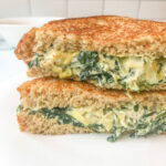 Spinach and Artichoke Dip Grilled Cheese Sandwich